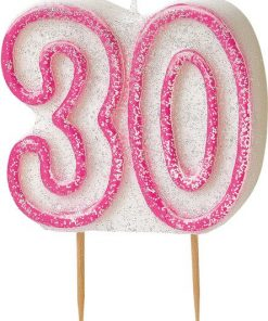 30th Birthday Candle - Pink