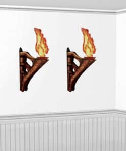 3D Wall Torches with Flame