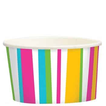 Summer Stripes Ice Cream Tubs & Spoons
