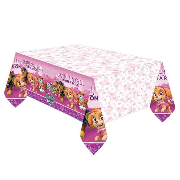 Paw Patrol Pink Party Plastic Tablecover