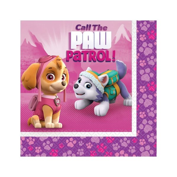 Paw Patrol Pink Party Paper Napkins