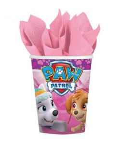 Paw Patrol Pink Party Paper Cups