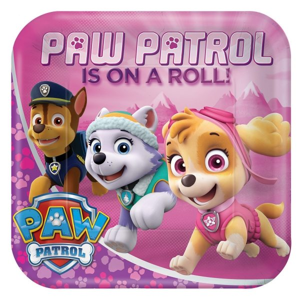 Paw Patrol Pink Party Paper Plates