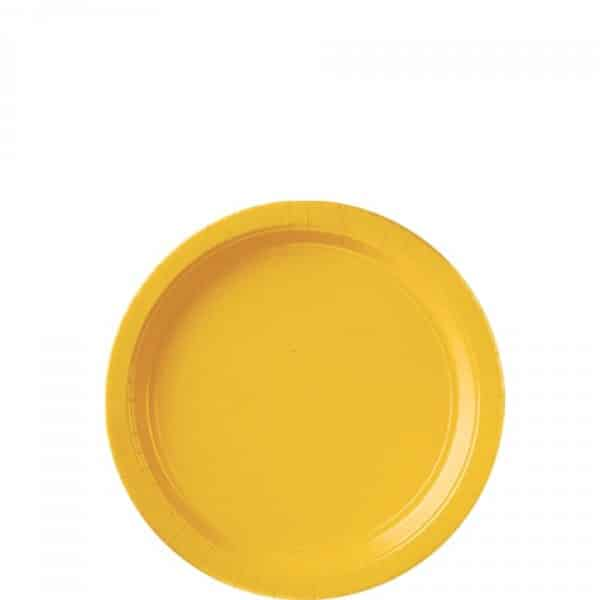 Yellow Party Paper Dessert Plates