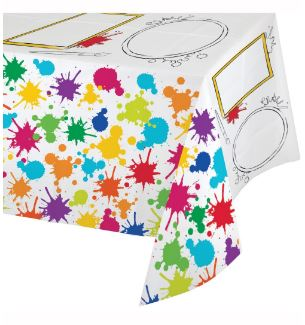 Art Themed Party Plastic Tablecover