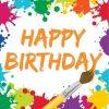 Art Themed Party Paper Happy Birthday Napkins