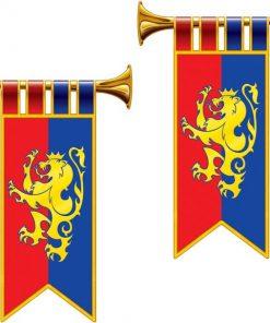 Herald Trumpet Cutout Flags