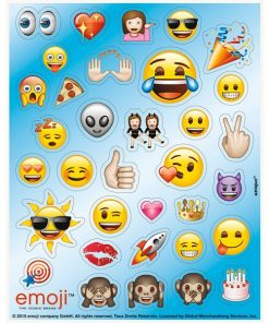 Emoji Party Bag Fillers - Sticker Sheets
