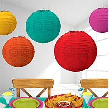 Mexican Fiesta Party Paper Lantern Decorations