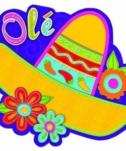 Fiesta Sombrero Cutout 33cm
