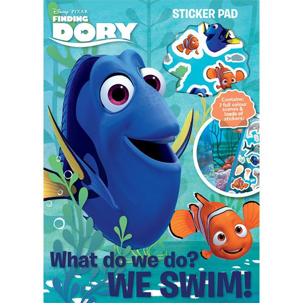 Disney Finding Dory Party Bag Fillers - Sticker Pad - each