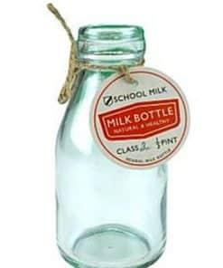 Glass School Milk Bottle