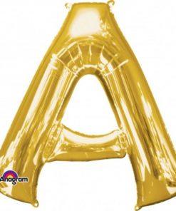 "Gold Letter A - 16"" Foil Balloon"