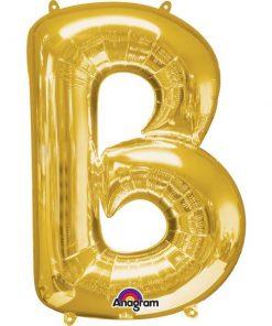 """Gold Letter B - 16"""" Foil Balloon"""