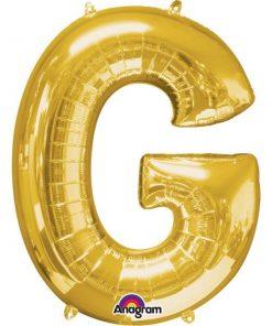 """Gold Letter G - 16"""" Foil Balloon"""