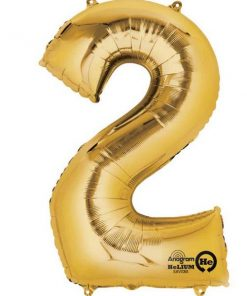 "Gold Number 2 - 16"" Foil Balloon"