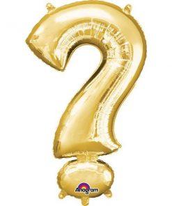 """Gold Letter ? - 16"""" Foil Balloon"""