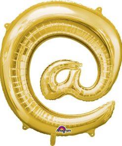 """Gold Letter @ - 16"""" Foil Balloon"""