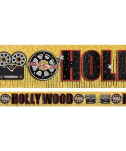 Hollywood Party Glitter Fringe Banner
