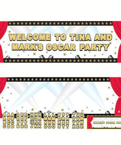 Hollywood Party Giant Personalised Banner