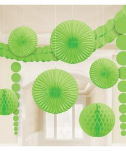 Lime Kiwi Green Room Kit Decorations