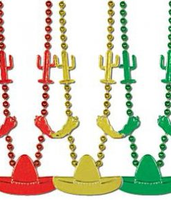 Mexican Fiesta Party Bead Necklace