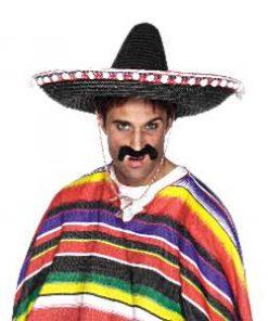 Mexican Fiesta Party Black Sombrero