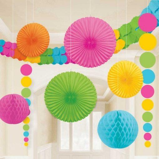 Multi-Coloured Room Kit Decorations