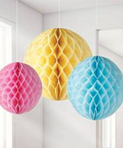 Pastel Honeycomb Decorations