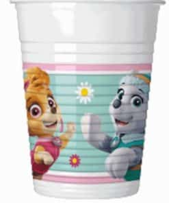 Paw Patrol Pink Party Plastic Cups