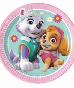 Paw Patrol Pink Party Paper Dessert Plates