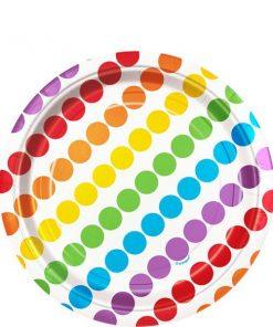 Rainbow Party Dessert Paper Plates