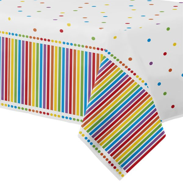 Rainbow Party Plastic Tablecover
