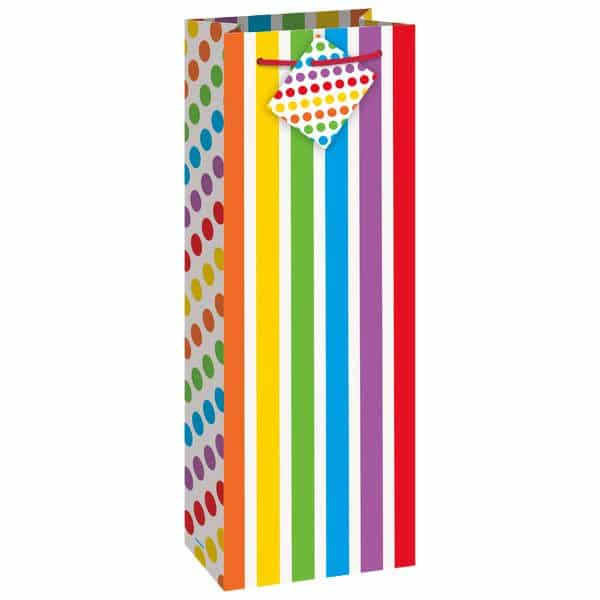 Rainbow Party Wine Gift Bag