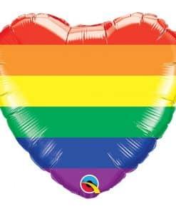 Rainbow Stripes Heart Balloon