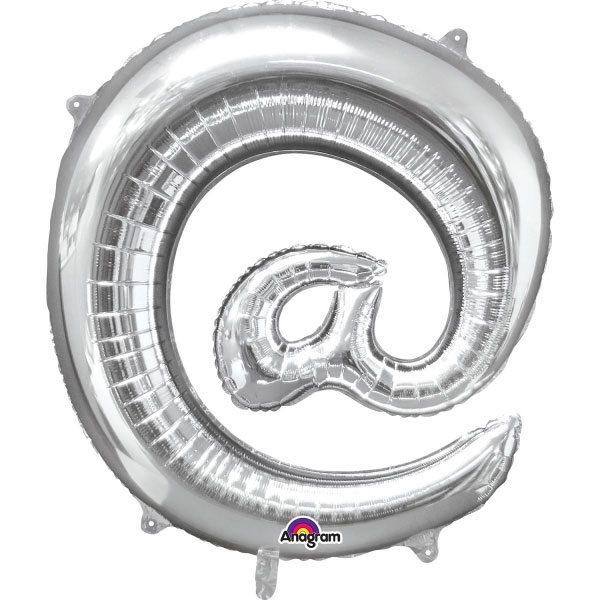 "Silver Letter @ - 16"" Foil Balloon"