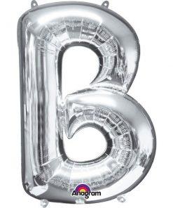"Silver Letter B - 16"" Foil Balloon"