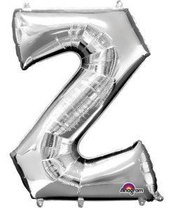 "Silver Letter Z - 16"" Foil Balloon"