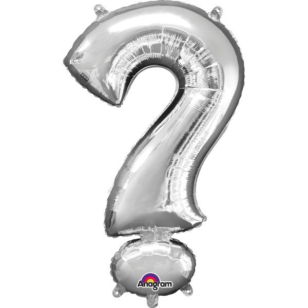 "Silver Letter ? - 16"" Foil Balloon"
