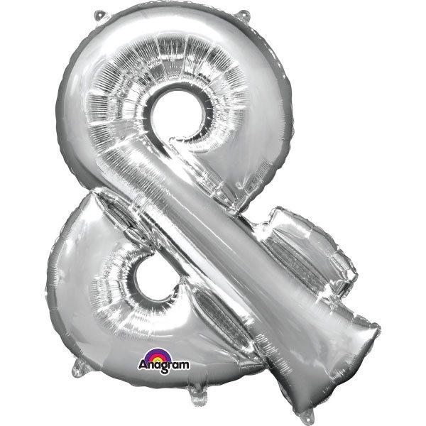 "Silver Letter & - 16"" Foil Balloon"