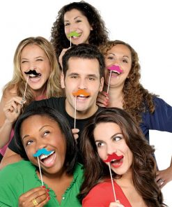 Summer Photo Booth Prop - Moustache on Stick