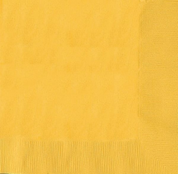 Yellow Party Paper Dinner Napkins