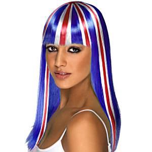 Union Jack Long Wig
