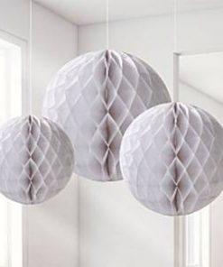 White Honeycomb Decorations
