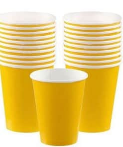Yellow Paper Cups Bulk