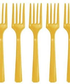 Yellow Plastic Forks