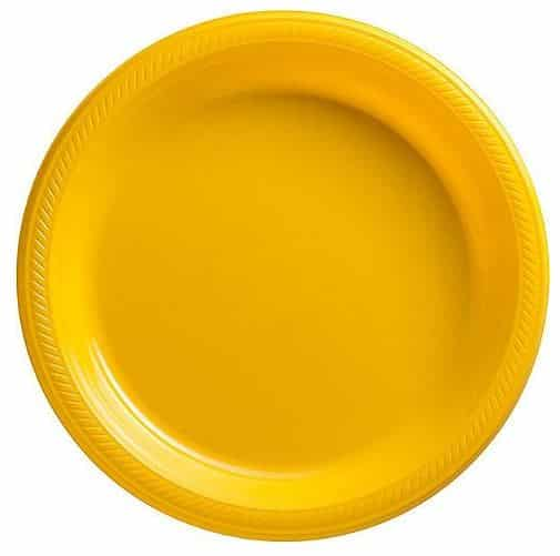 Yellow Plastic Serving Plate