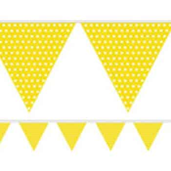 Yellow Polka Dot Paper Bunting