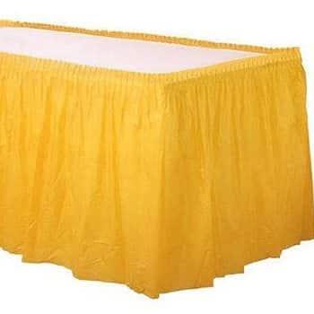 Yellow Tableskirt