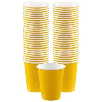 Yellow Paper Coffee Cups